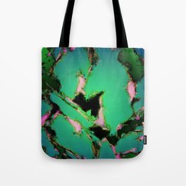 A working turquoise engine Tote Bag