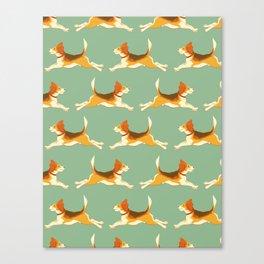 Beagle Pattern Canvas Print