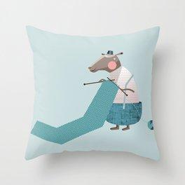 It's time to start knitting Throw Pillow