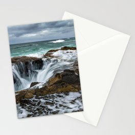 Picture USA Thors Well, Cape Perpetua, Oregon Coast, Oregon, Pacific Ocean, Ocean Nature Waves Stones stone Stationery Cards