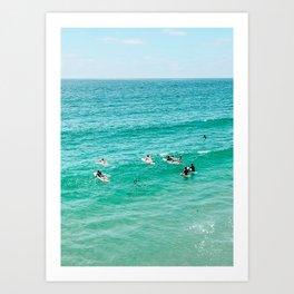 Surfers at Pacific Beach, San Diego Ca Art Print