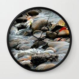 Water Through Stone Wall Clock