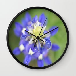 Beautiful Blue Bonnet Wall Clock
