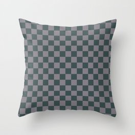Checkerboard Pattern Inspired By Night Watch PPG1145-7 & Magic Dust Purple PPG13-2 Throw Pillow