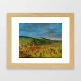 George Catlin - Ball-play of the Choctaw Framed Art Print