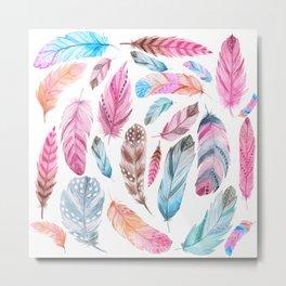 Watercolor coton Metal Print