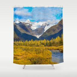 Autumn in Portage Valley - Alaska Shower Curtain