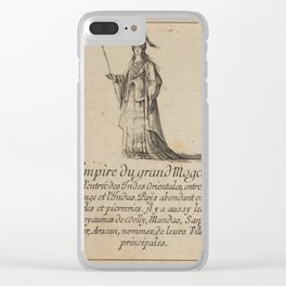 Game of Geography - Empire of the Great Mogul (Stefano della Bella, 1644) Clear iPhone Case