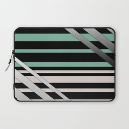 Striped green gray Laptop Sleeve