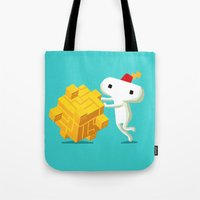 fez Tote Bags featuring The Prince with a FEZ by MeleeNinja