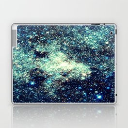 gAlAxY Stars Teal Turquoise Blue Laptop & iPad Skin