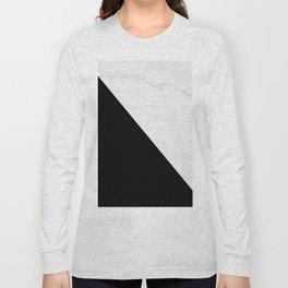 Marble And Black Diagonal Long Sleeve T-shirt