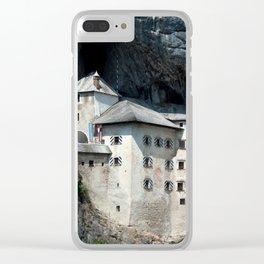Predjama Castle landmark Clear iPhone Case