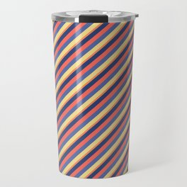 Summer Bright Colors Inclined Stripes Travel Mug