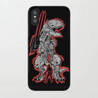 metal gear iPhone & iPod Cases featuring Metal Gear T.REX by MeleeNinja