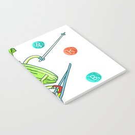 Skiing Celery Notebook