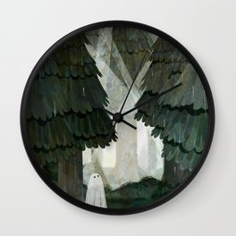 Pine Forest Clearing Wall Clock