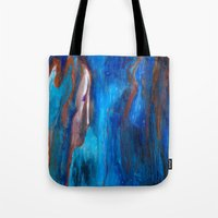 portlandia Tote Bags featuring Father Sky by Beth Ann Short by Beth Ann Short
