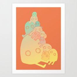 Lumps (Red) Art Print