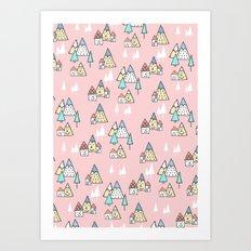 PINK MAGIC FOREST Art Print