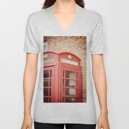 Telephone Box Unisex V-Neck