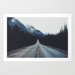 Mountain Road #forest Art Print
