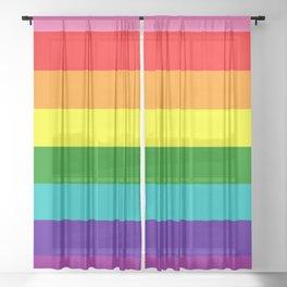 Gay Pride Sheer Curtain
