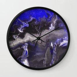 Purple Blue Lightning Wall Clock