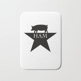 A Ham on a Star Bath Mat