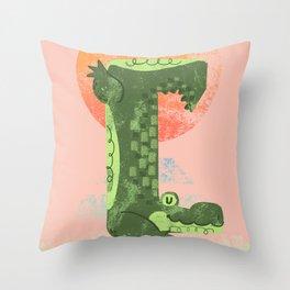 Yoga Croc Throw Pillow