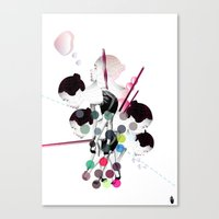 bubbles Canvas Prints featuring Bubbles by Stéphanie Brusick / Art by shop
