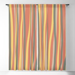 Brush Stripes Blackout Curtain