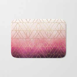 Pink Ombre Triangles Bath Mat