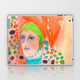 Long Neck Orange Lady Laptop & iPad Skin