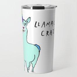 Llamacorn Crazy Travel Mug