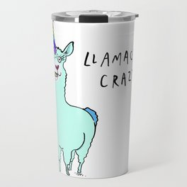 Llamacorn Crazy Travel Mug