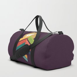 Lingering mountain with golden moon Duffle Bag