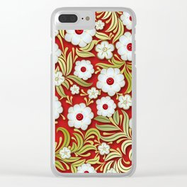 Art Flowers V3 Clear iPhone Case