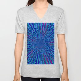 radial layers 4 Unisex V-Neck
