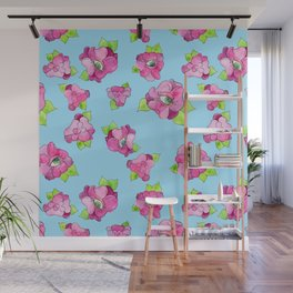 floral gaze Wall Mural