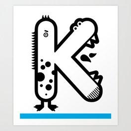 ABC: K Art Print