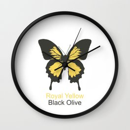 Ulysses Butterfly 6 Wall Clock