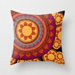 Ethnic Indian Mandala Throw Pillow