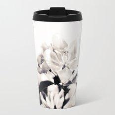 Black and White Flowers 2 Travel Mug