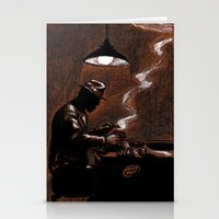 bar Stationery Cards featuring Noir Bar by David Miley