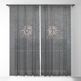The Inquisition Sheer Curtain