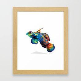 Geometric Abstract Mandarin Dragonette Goby Framed Art Print