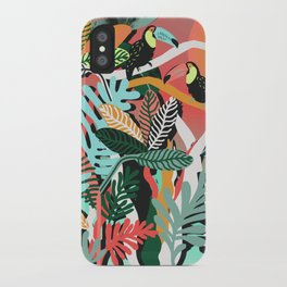 Sunset in the jungle iPhone Case