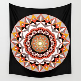 My Solar Plexus Mandhala   Secret Geometry   Energy Symbols Wall Tapestry