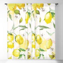 Watercolor lemons Blackout Curtain